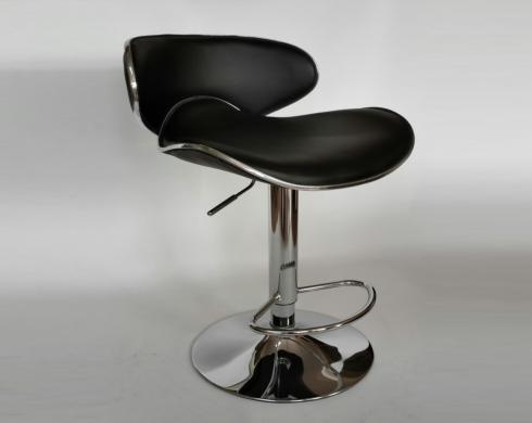 Kavisli Bar Siyah Sandalyesi